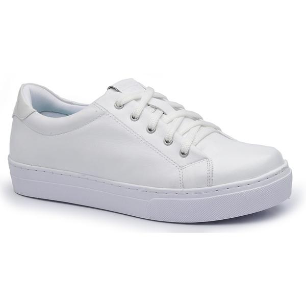 Sapatênis Feminino Calçar Bem Branco