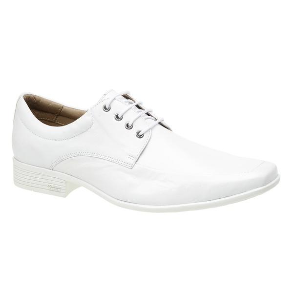 Sapato Masculino Branco de Cadarço - Sola Paris Branco