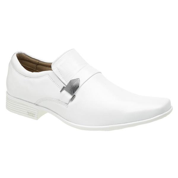 Sapato Branco Masculino com fivela - Sola Paris Branco