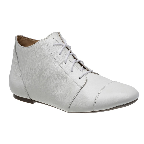 Sapato Feminino Branco de Couro