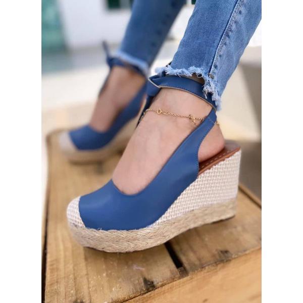 Anabela Azul com Tiras