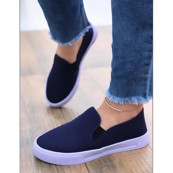 Slip On Jeans Marinho Básico