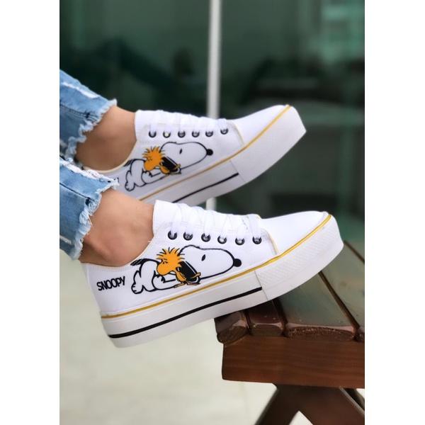 Tênis Insp Snoopy Branco Novo