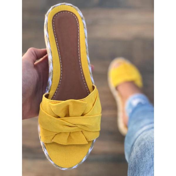 Tamanco Amarelo Com Laço