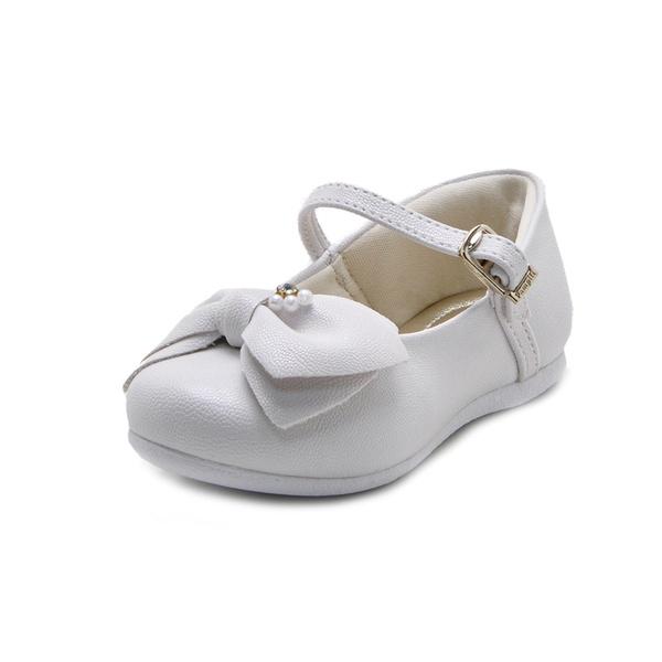 Sapato Bebê Pampili Angel com Laço Pérolas e Strass
