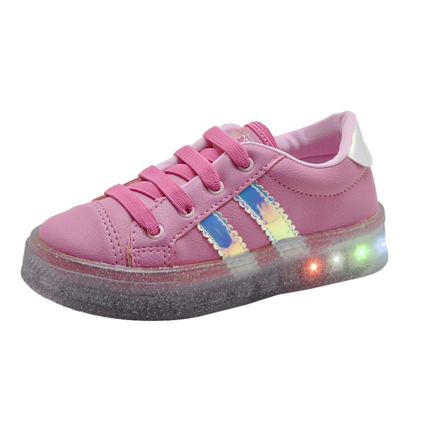 Tênis Infantil Feminino WorldColors Star Light com LED