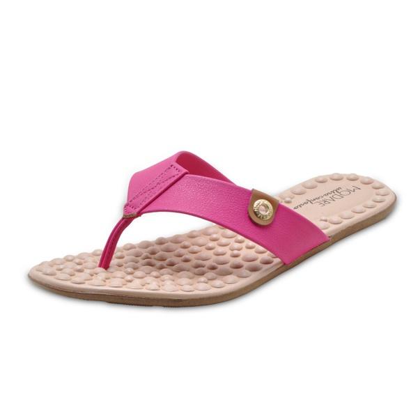 Sandália Rasteira Feminina Conforto Modare 7163100 Pink 1673