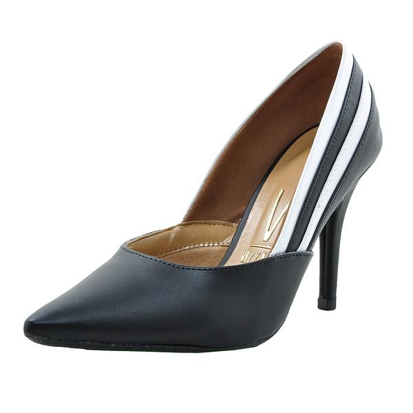 Sapato Feminino Vizzano Scarpin Preto e Branco