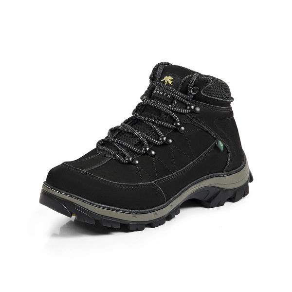 Bota Adventure Casual Couro Nobuck Hiking Extreme Bell Boots - 900 - Preto - 895