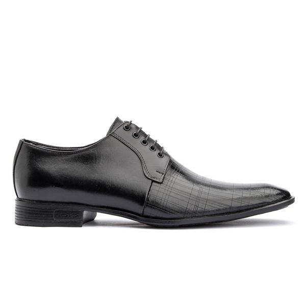Sapato social de amarrar com estampa solado em borracha bigi