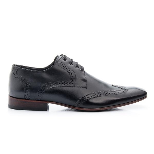 Sapato Masculino De Amarrar Oxford Clássico Solado De Couro