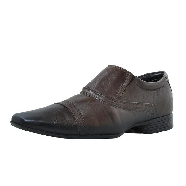 sapato masculino de couro marrom