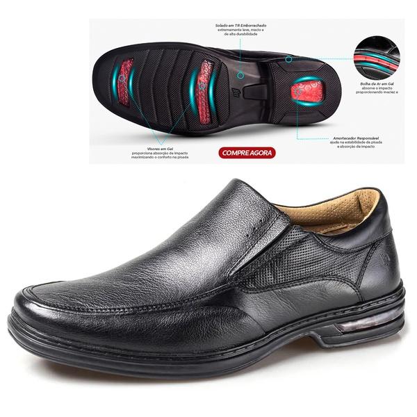 Sapato Confort em Couro Rafarillo