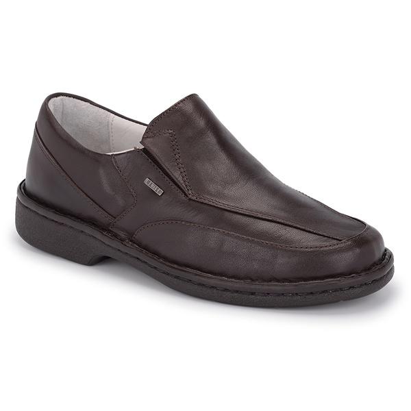 Sapato Conforto Levíssimo em Couro Café REF. 1433-570