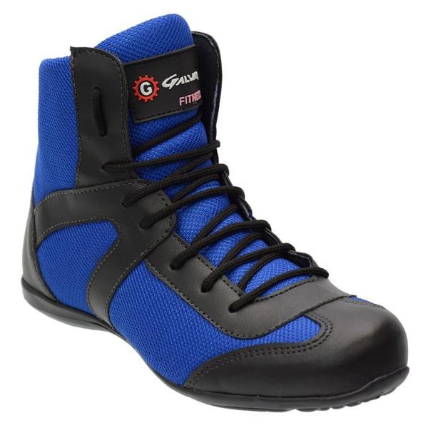 Bota Fitness Feminina De Cano Curto Cor Azul Ref. 1094-233