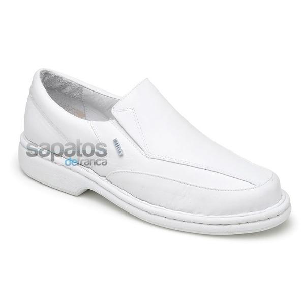 Sapato Conforto Em Couro Cor Branco Ref. 316-570