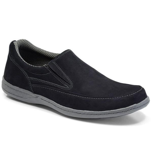 Sapato Masculino Linha Comfort Sportive Em Couro Cor Marinho-659-2021-3