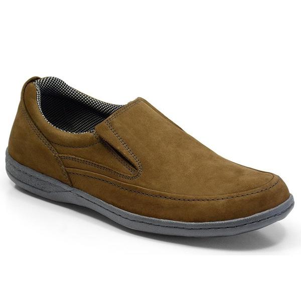 Sapato Masculino Linha Confort Sportive Em Couro Cor Rato Ref. 654-2021-3