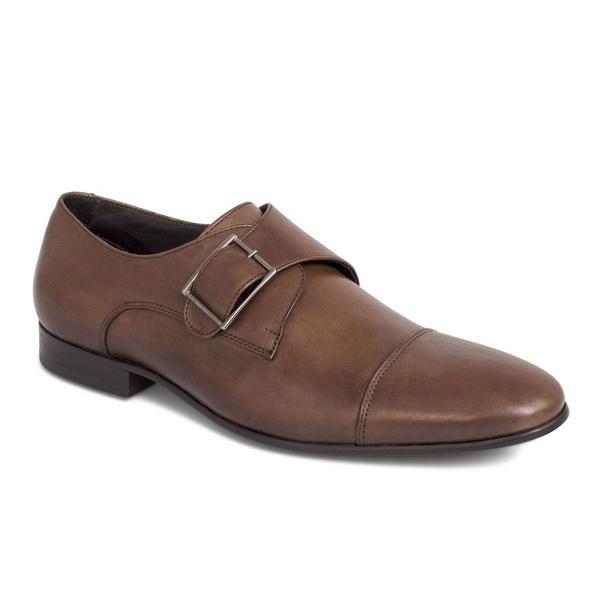 Sapato Social Clássico Em Couro Cor Moura Ref. 1392-1004-02