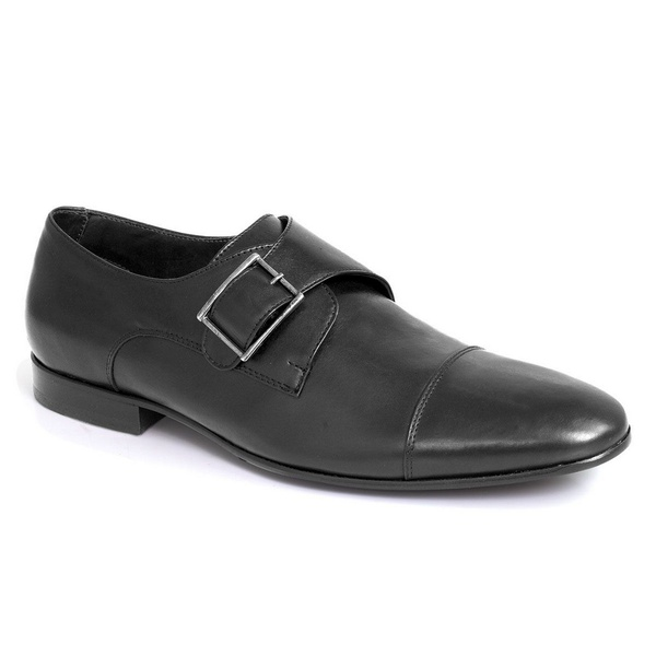Sapato Social Clássico Em Couro Cor Preto Ref. 1391-1004-01