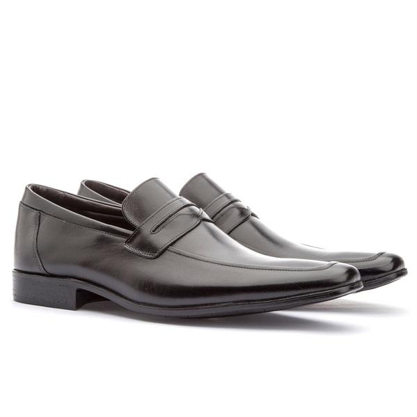 Sapato Social Masculino Fly Em Couro Ref-1044 Preto