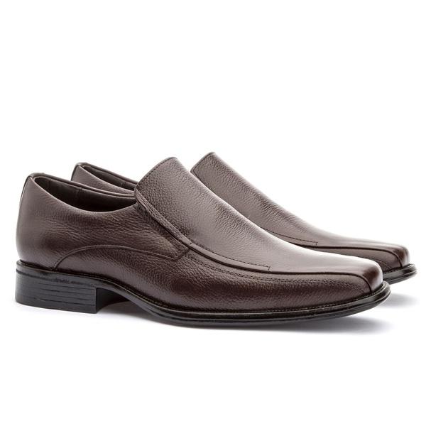 Sapato Social Masculino Kire Gel Em Couro Ref-3900 Café