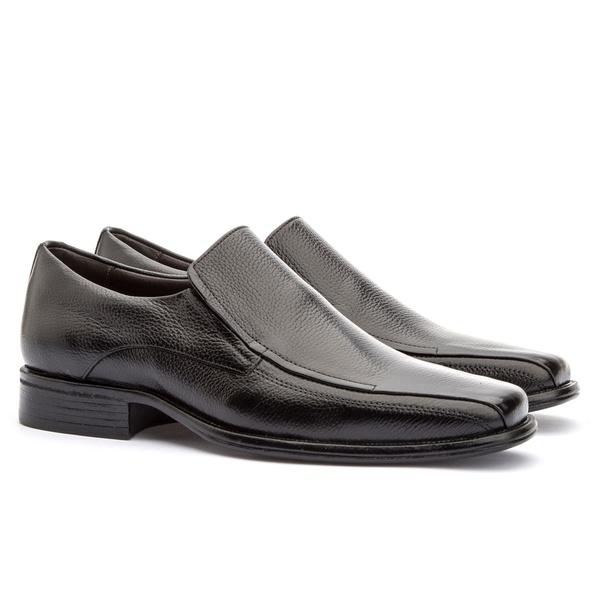 Sapato Social Masculino Kire Gel Em Couro Ref-3900 Preto