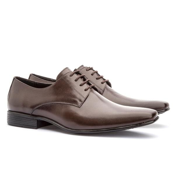 Sapato Social Masculino Leblon Em Couro Ref-693 Café