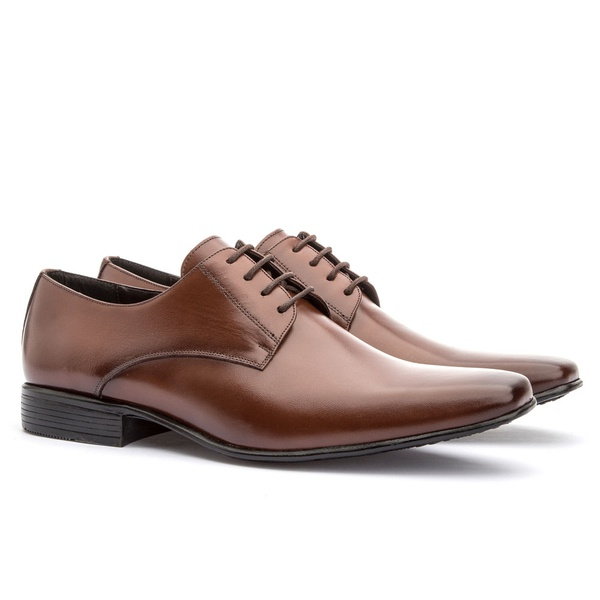 Sapato Social Masculino Leblon Em Couro Ref-693 Whisky