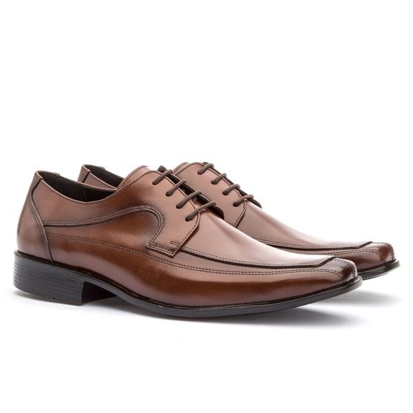 Sapato Social Masculino Veneza Em Couro Ref-112 Whisky