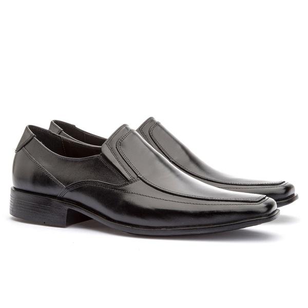 Sapato Social Masculino Veneza Em Couro Ref-114 Preto