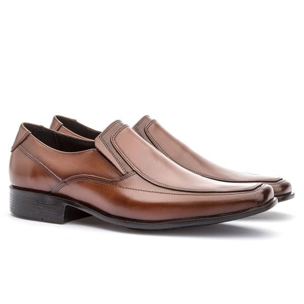 Sapato Social Masculino Veneza Em Couro Ref-114 Whisky
