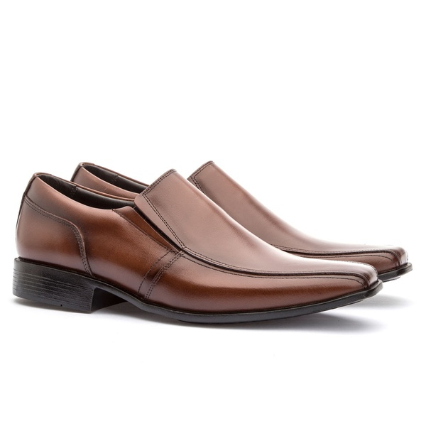 Sapato Social Masculino Veneza Em Couro Ref-170 Whisky