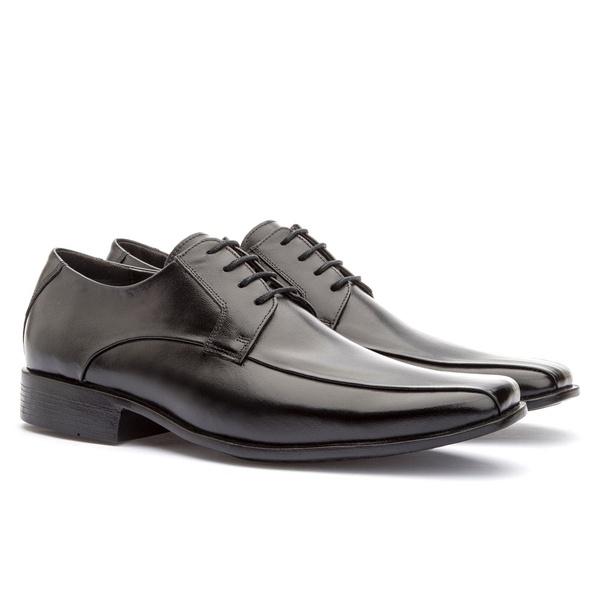 Sapato Social Masculino Veneza Em Couro Ref-176 Preto