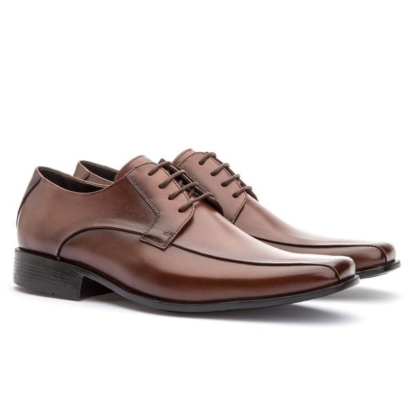 Sapato Social Masculino Veneza Em Couro Ref-176 Whisky