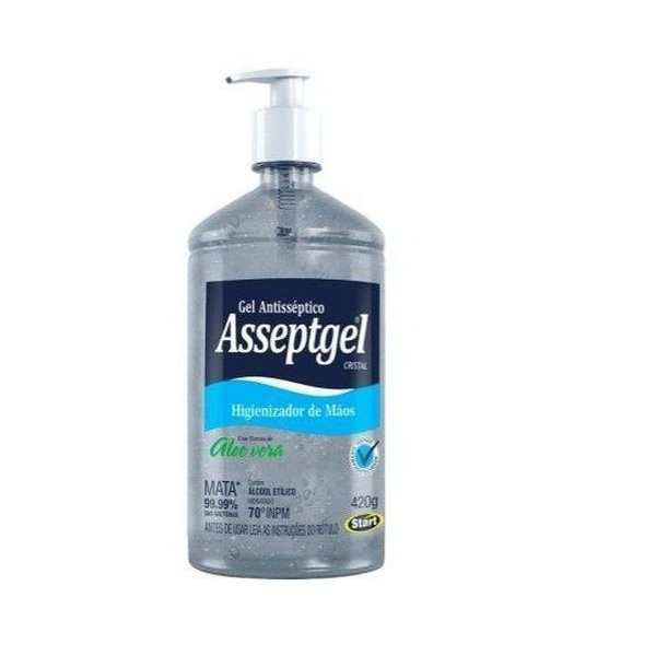 Álcool Gel 70% Asseptgel 420g