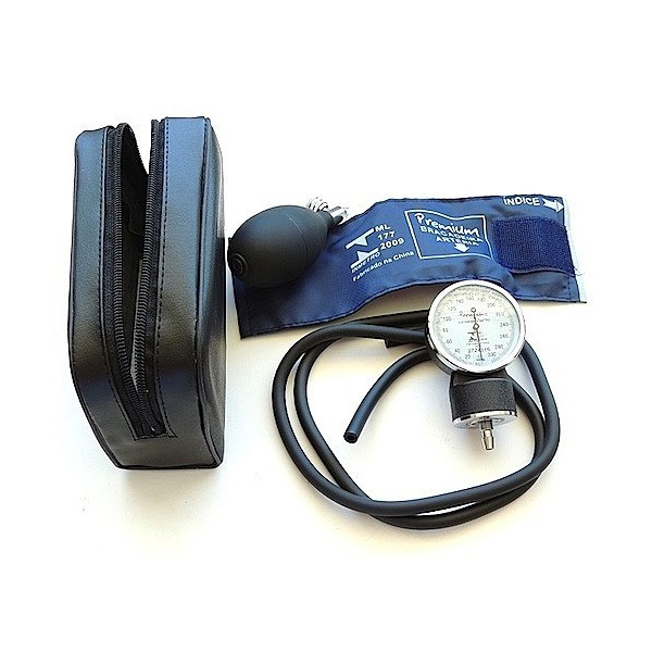 Esfigmomanômetro Aneroide Nylon Fecho Em Velcro Premium