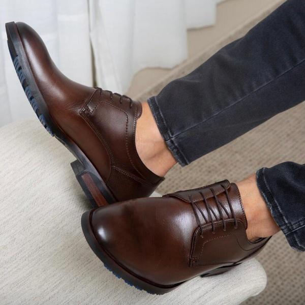 Sapato Masculino Social Mônaco Em Couro Látego Café Savelli