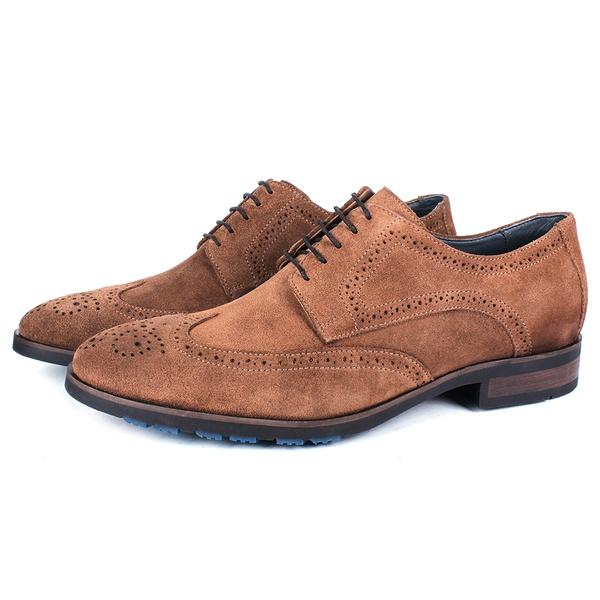 Sapato Masculino Derby Mônaco Em Couro Suede Havana Savelli