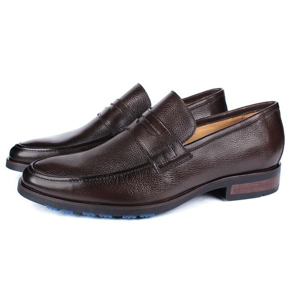 Sapato Masculino Loafer Mônaco Em Couro Floater Café Savelli
