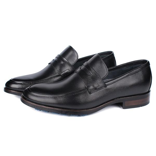 Sapato Masculino Loafer Mônaco Em Couro Látego Preto Savelli