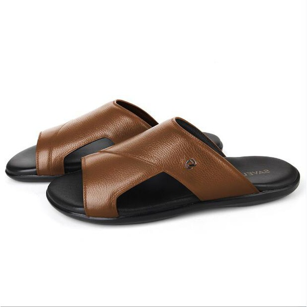 Sandália em Couro Floater Bronze Savelli