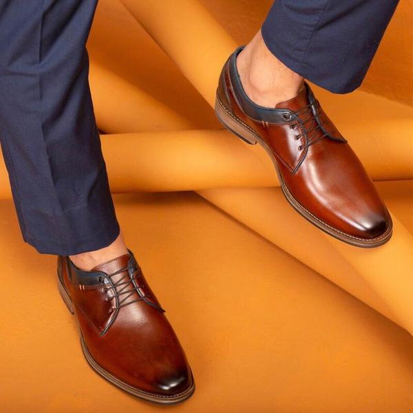 Sapato Masculino Vulcano em Couro Látego Pinhão Savelli