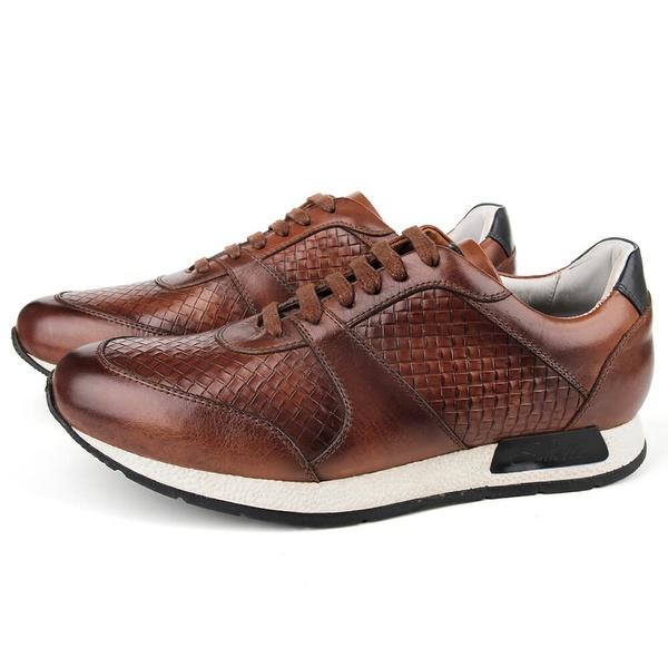 Sapato Casual Jogging em Couro Havana Savelli