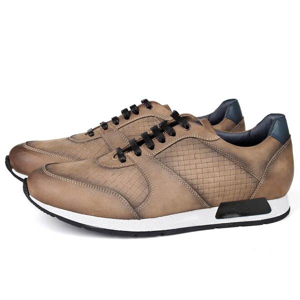 Sapato Casual Jogging em Couro Cenere Savelli