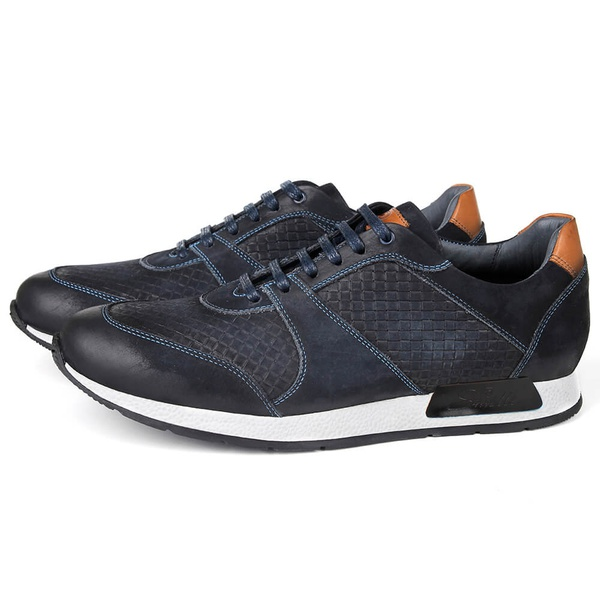 Sapato Casual Jogging em Couro Marinho Savelli