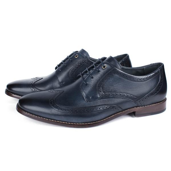 Sapato Masculino Derby em Couro Elba Blue Savelli