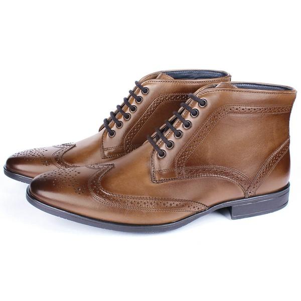 Bota Masculina Ankle Boot Couro Havana Savelli