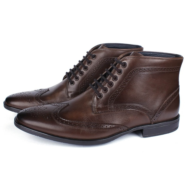 Bota Masculina Ankle Boot Couro Café Savelli