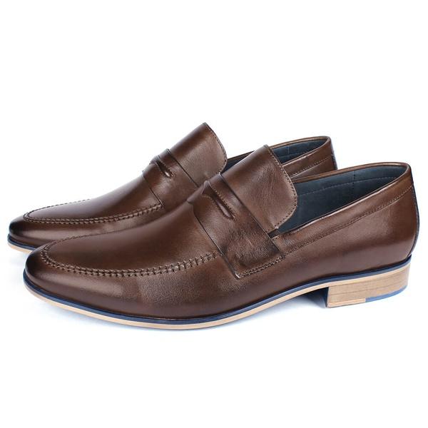 Sapato Masculino Loafer em Couro Café Savelli